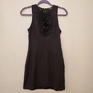 Bebe black silk dress